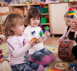 young children with instruments